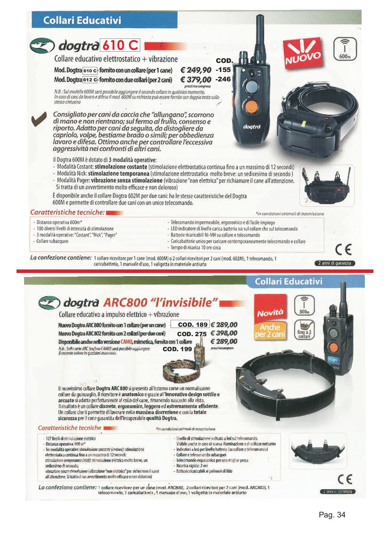 COLLARI ELETTRICI 1- 16- P35